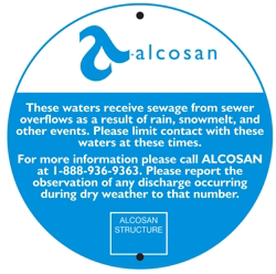 An Example Outfall Sign