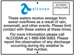 An example of an outfall sign