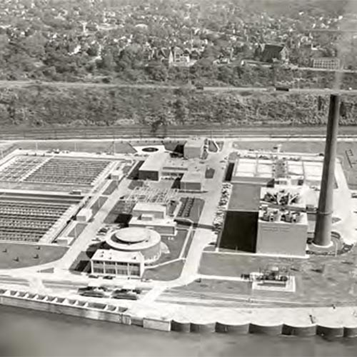 An aerial of the completed plant
