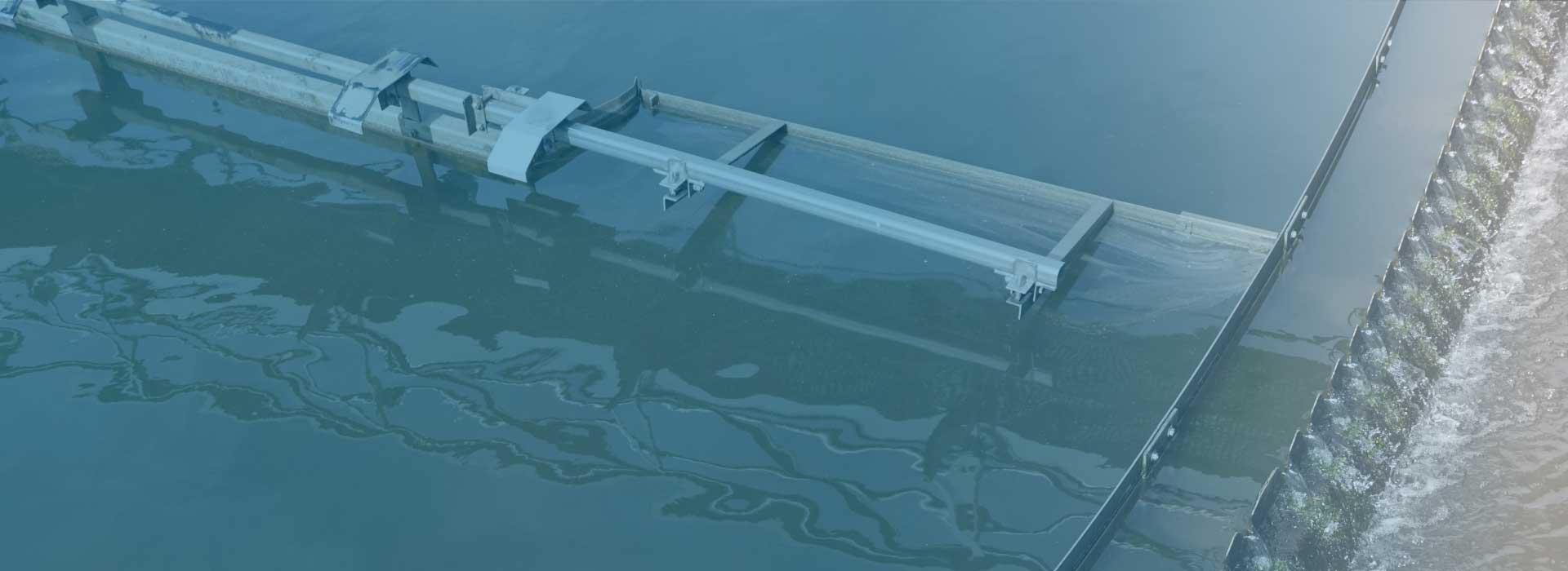 Machine that treats wastewater