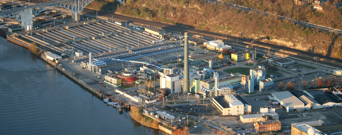 ALCOSAN Plant Expansion Aerial View of Plant before Construction