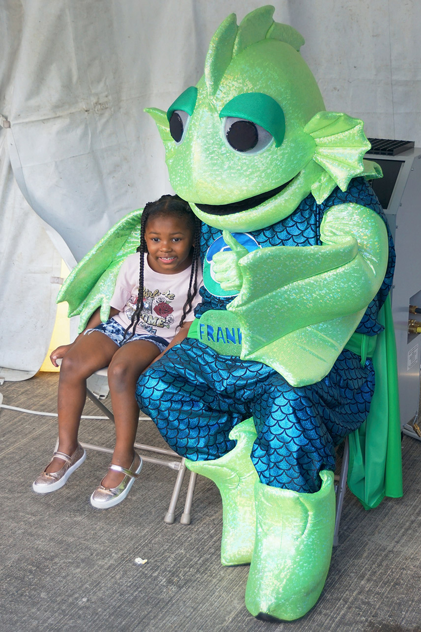 Frankie the FIsh at ALCOSAN Open House
